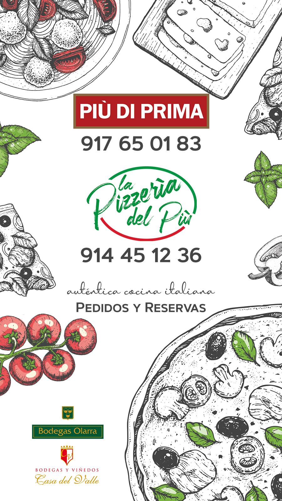 carta restaurante Italiano Piu Di Prima