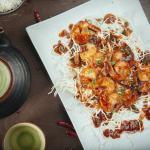 Crevettes tigrées à la sauce szechuan