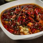 Szechuan Style Poached Fish Filet & Sprout with Chili & Peppercorns