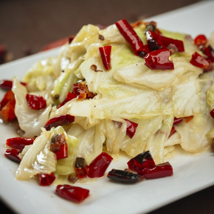Chinese Cabbage with Peppercorns and Chili