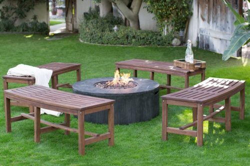 fire pit with bench seating