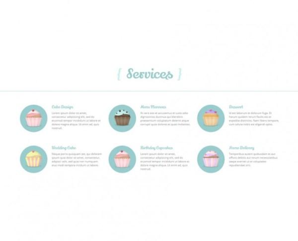 WindCake - Bäckerei Cafe Homepage Web Design