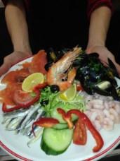 Seafood Platter at Volare Restaurant