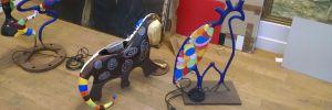 Restauration de sculptures dans l'atelier de Benoit Janson