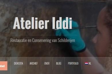 website schilderijenrestauratie atelier iddi den haag