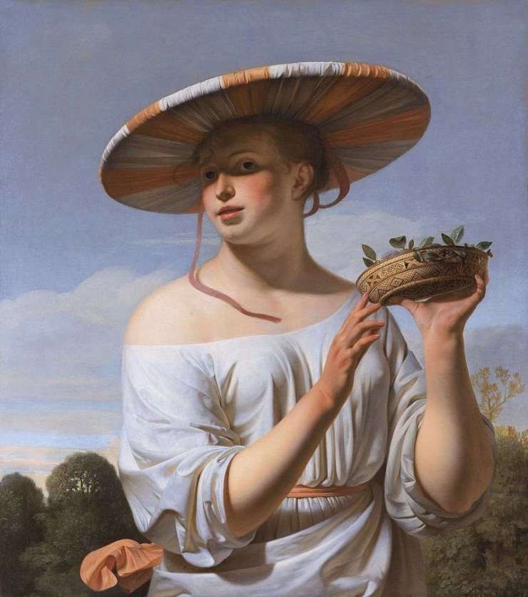restauratie schilderijen caesar van everdingen_meisje_met_brede_hoed_door_caesar_van_everdingen