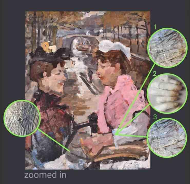 isaac israels schilderij restauratie