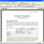 AbiWord : nouvelle version du traitement de texte libre