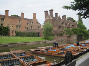 Punts on the river at Cambridge