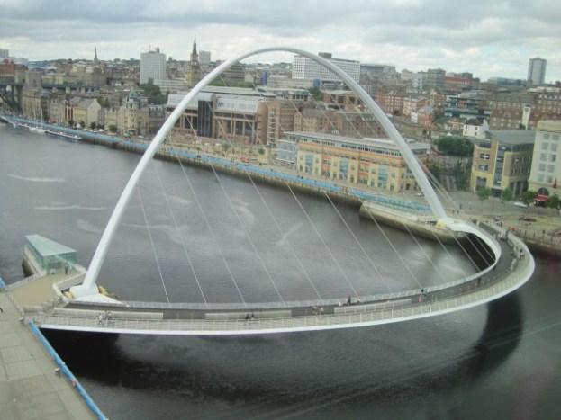 And it's beautiful neighbour, Gateshead's Millenium Bridge