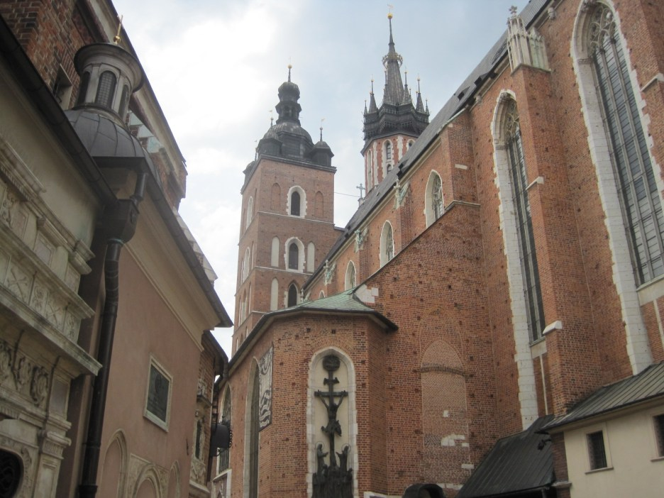 The towers seen from the side of the church