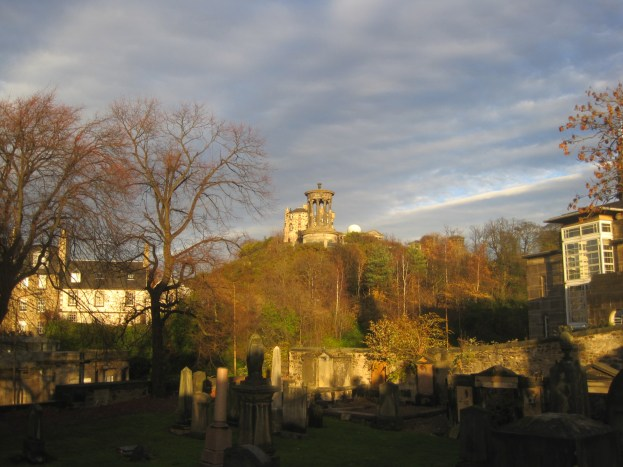 Calton cemetery and the observatory