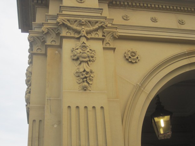 The entrance porch, Preston Hall