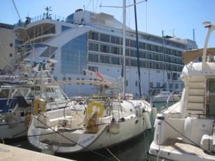 Definitely not the cruise ship/hotel, 'The Sunborn'