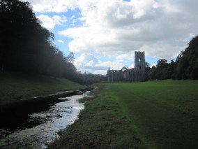 And you follow the stream, looking back at the Abbey from time to time