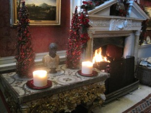 With another roaring fire