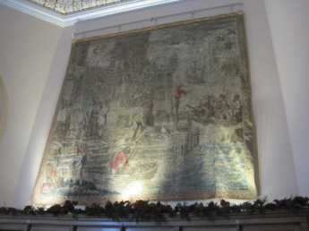 With fabulous tapestries