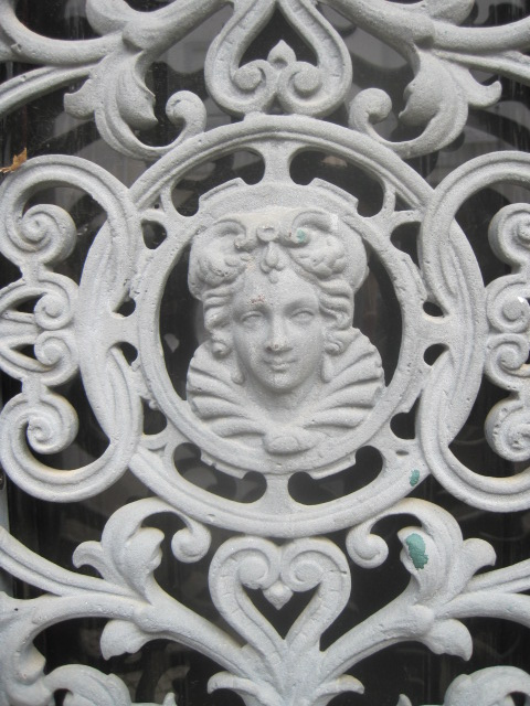 Like this face, on a door