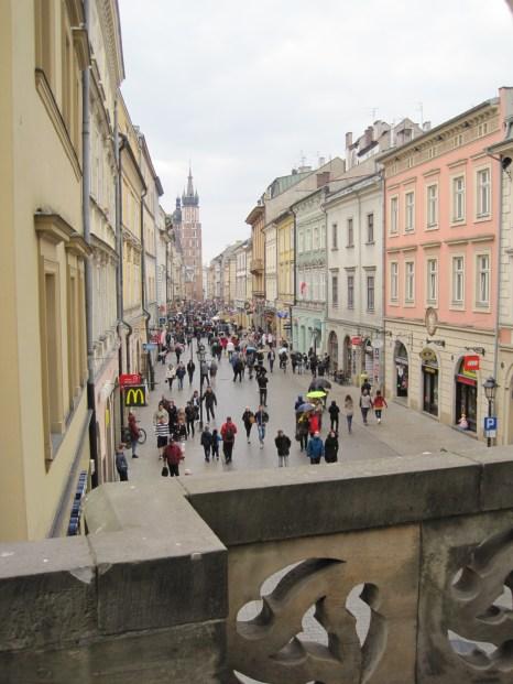 Looking down Ul. Florianska