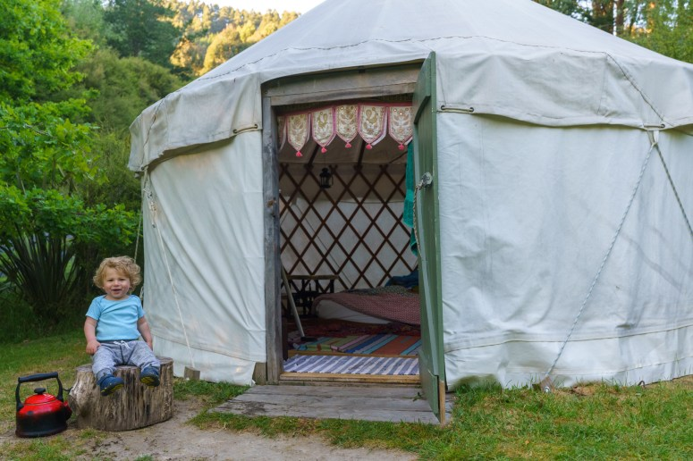 Our yurt outside Christchurch, New Zealand