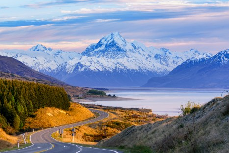 The Approach to Mt. Cook, New Zealand