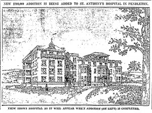 Rendering of 1922 building (Image courtesy Morning Oregonian, July 3, 1921, page 8)