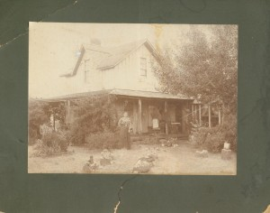 A photograph of the Old Wood House in the early 20th century. (Photo courtesy of the Woodhouse Preservation Group)