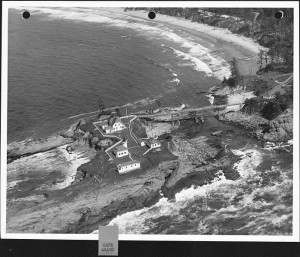 Aerial photograph of historic light station complex on Chief's Island in 1944. (photo courtesy of Rick Minor)
