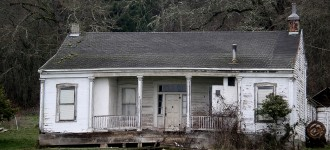 Although the 1853 John Phillips House east of Salem is listed on the National Register of Historic Places, it is today vacant and in need of new use (Photo courtesy State Historic Preservation Office)