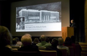 Tony Belluschi's talk at the Portland Art Museum (photo by Drew Nasto)