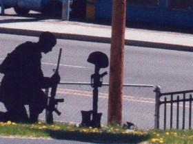 Burns Cemetery's Kneeling Soldier