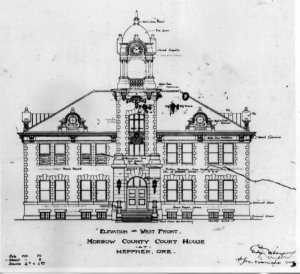 1Elevation drawing by Edgar M. Lazarus, 1902 (image courtesy of Univ. of Oregon Libraries)
