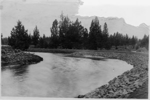 Completed Pilot Butte Canal in 1907 (Image courtesy Deschutes Historical Society.)