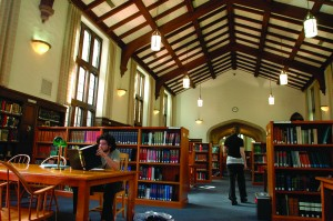 Hauser library, Reed College (photo courtesy of Reed College)
