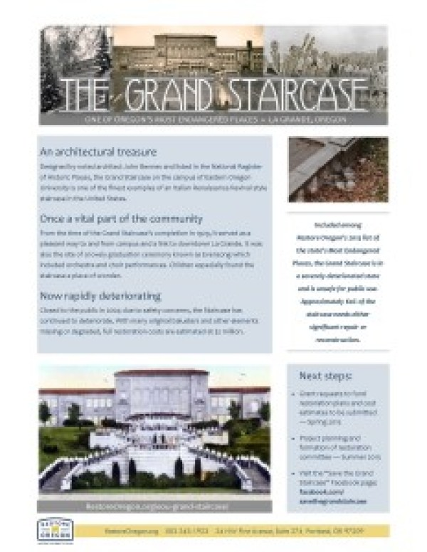 Grand Staircase one pager