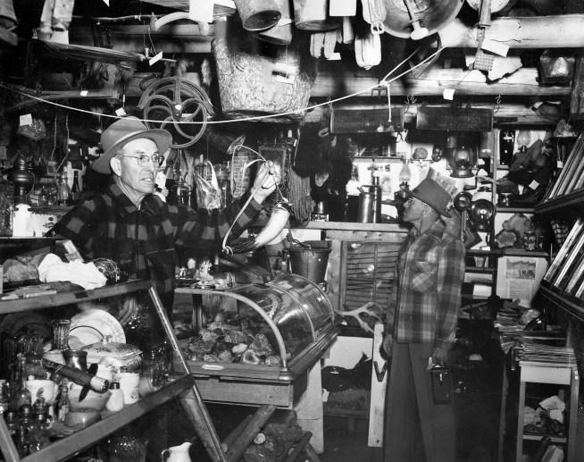 The original DeWitt Museum with Gail DeWitt