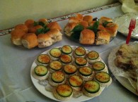 The selection of mini sandwiches was impressive. Cucumber and chicken salad were two of many.