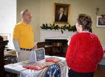 The Kiwanis Club was at the Port Tobacco Courthouse on Saturday and Sunday selling their lovely ornaments featuring historic buildings in Charles County.