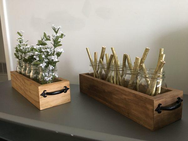 DIY Mitered Corners Mason Jar Planter Box - Restoring Handmade