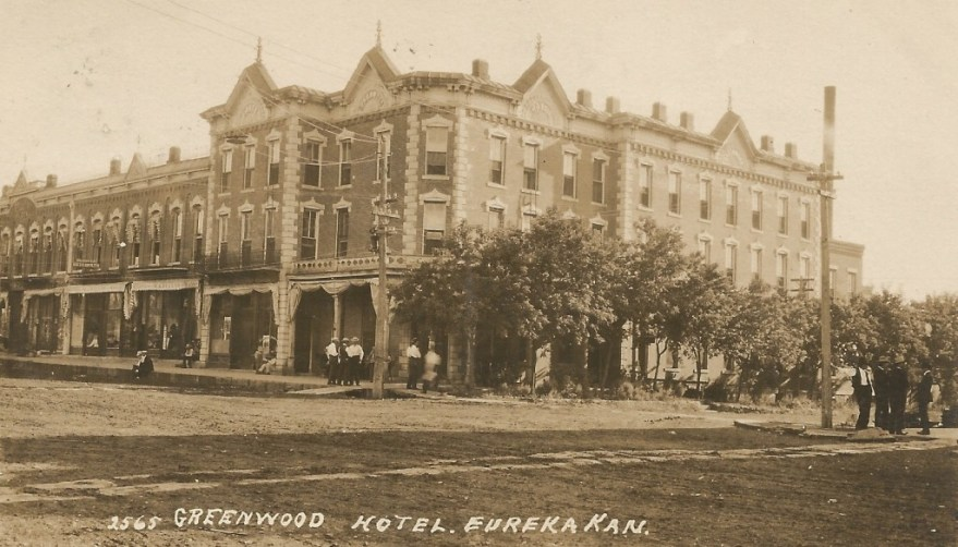 Greenwood Hotel, Eureka, KS, by Charles W. Squires.