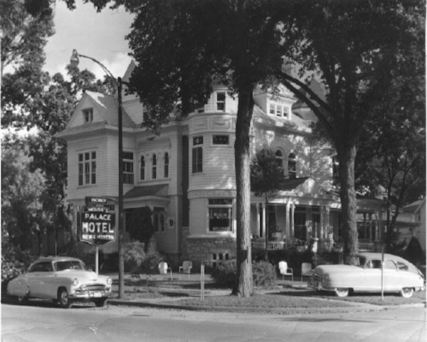 The Cross House, circa 1950, as the Palace Motel. I love this image.