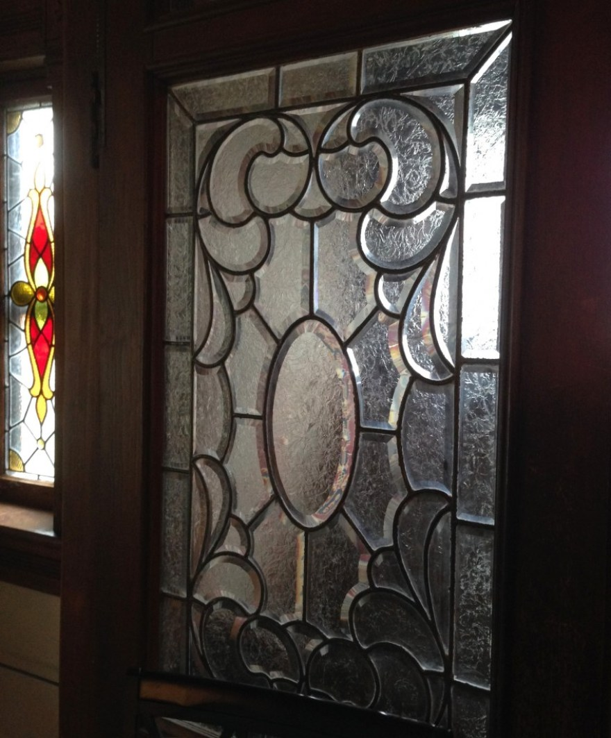The glass (wow) in the vestibule doors.
