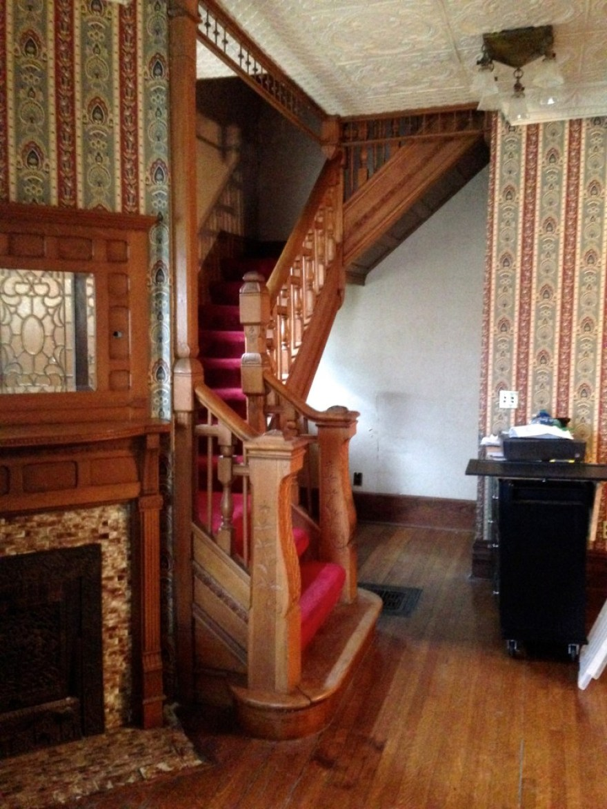 Fro the vestibule, one walks into the foyer and stair hall.