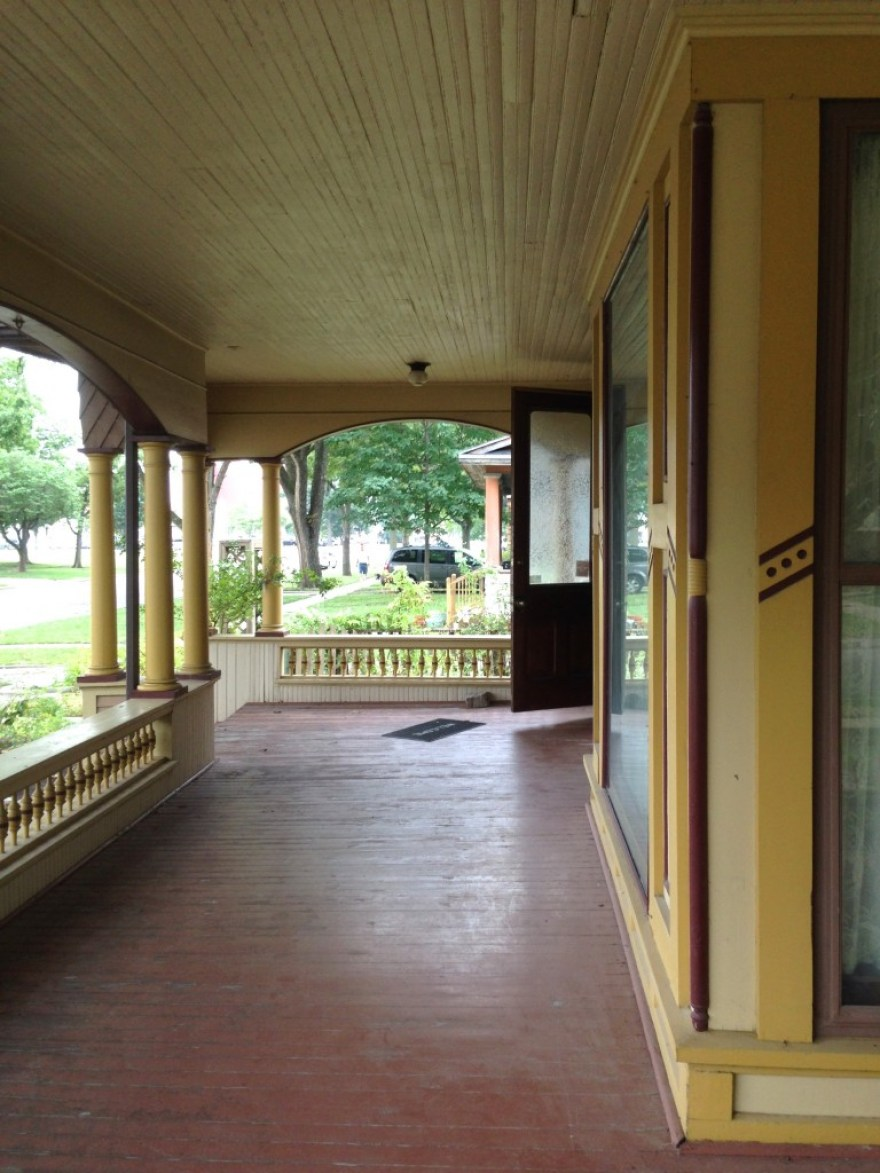 A wonderful front porch, looking south.