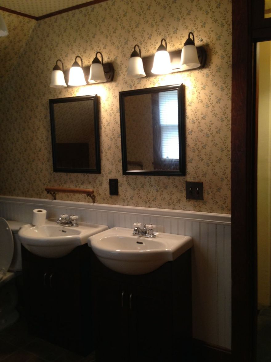 The bathroom was fully redone not too long ago.