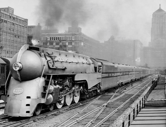 In 1938, industrial designer Henry Dreyfuss was commissioned by the New York Central Company to design streamlined trains for the fabulous and famous 20th-Century Limited, which traveled between New York City and Chicago.