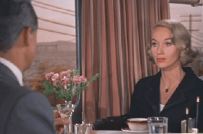 Cary Grant and Eva Marie Saint star in Alfred Hitchcock's North By Northwest
