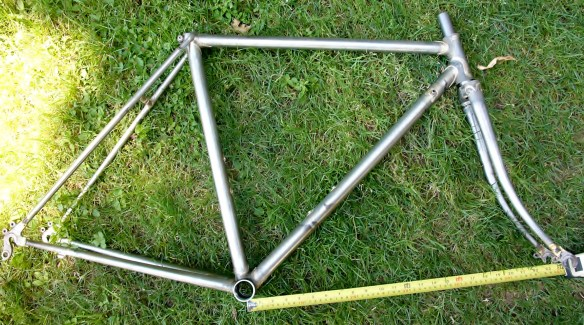 My frame with front-center at 59 cm - a little shorter than I wanted.