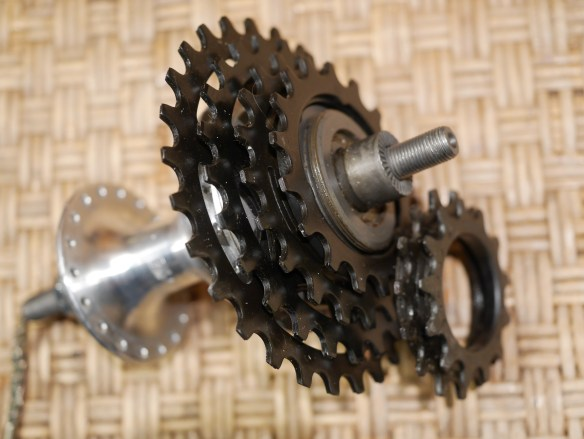 6 SACHS HURET ORBIT HUB 2 SPEED INTERNAL 36 HOLES 5 7 SPEED FREEWHEEL FRANCE