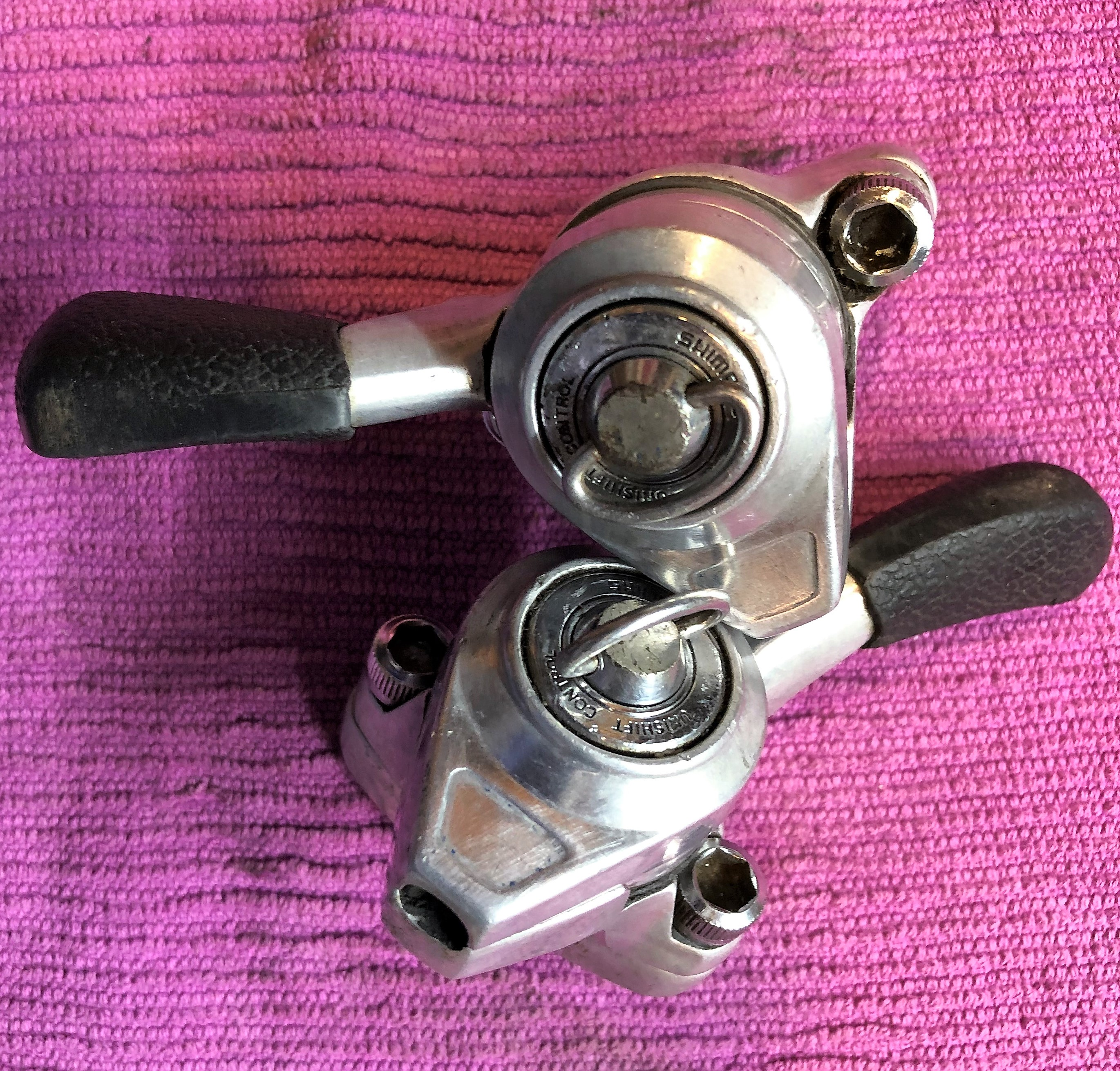 vintage bike french SIMPLEX shifter part frame clamp